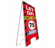 Warning Sign 75 Jaar