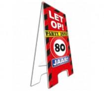 Warning Sign 80 Jaar
