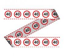Afzetlint Verkeersbord 40 jaar   (15 meter)