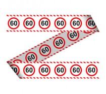 Afzetlint Verkeersbord 60 jaar   (15 meter)