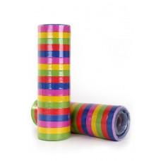 Serpentines  rol 4 m , 18 ringen, 5 kleuren