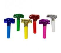 Meerkleurige Metallic Roltongen 24cm - 6 stuks