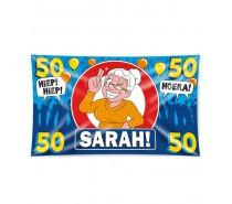 Gevelvlag XXL 50 Jaar Sarah  150 x 90 cm