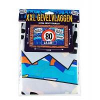 Gevelvlag XXL 80 Jaar  150 x 90 cm