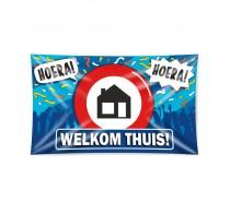 Gevelvlag XXL Welkom thuis  150 x 90 cm