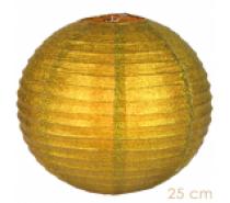 Lampion goud glitter 25 of 35 cm