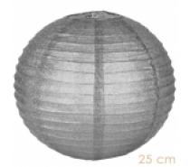 Lampion zilver glitter 25 -35 cm
