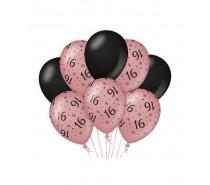 De Rosegold/Black Ballonnen 16 jaar (ook voor helium)