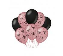 De Rosegold/Black Ballonnen 18 jaar (ook voor helium)