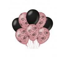 De Rosegold/Black Ballonnen 40 jaar (ook voor helium)