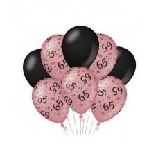 De Rosegold/Black Ballonnen 65 jaar (ook voor helium)