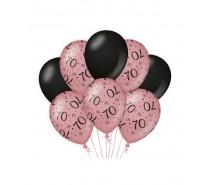 De Rosegold/Black Ballonnen 70 jaar (ook voor helium)
