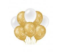 De Gold/White Ballonnen 18 jaar (ook voor helium)