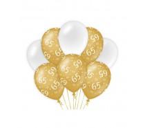 De Gold/White Ballonnen 65 jaar (ook voor helium)