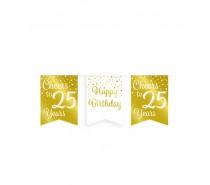 De Gold/White Party Flag banner 25 jaar