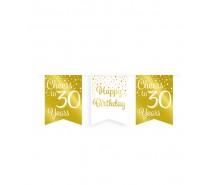 De Gold/White Party Flag banner 30 jaar