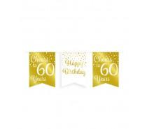 De Gold/White Party Flag banner 60 jaar