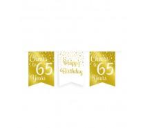 De Gold/White Party Flag banner 65 jaar