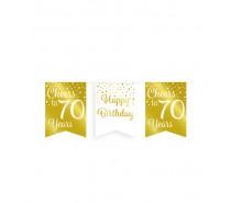De Gold/White Party Flag banner 70 jaar