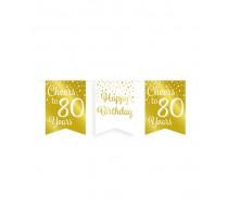 De Gold/White Party Flag banner 80 jaar
