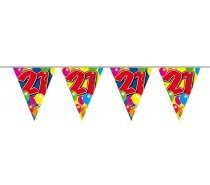 Vlaggenlijn Balloons: 21 jaar 10 mtr.