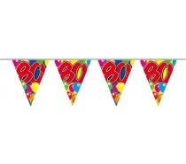 Vlaggenlijn Balloons: 80 jaar 10 mtr.