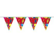 Vlaggenlijn Balloons: 90 jaar 10 mtr.