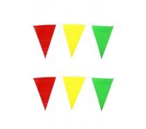 Vlaggenlijn: rood/geel/groen 10 mtr