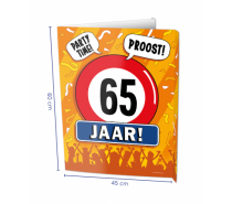 Window Signs 65 Jaar 60 x 45 cm