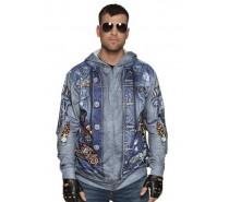 Photorealistic vest: hoodie Biker