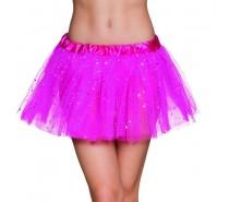 Petticoat twinkel roze/Zwart/Rood/neongroen (tutu)