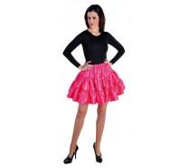 Volangen rok, kort  In het Rood,Zwart en Pink