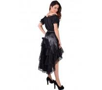 Luxe rok met kant zwart