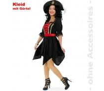 Megan jurk Zwart met rood