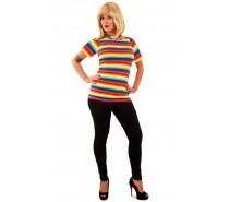 T-shirt regenboog print dames