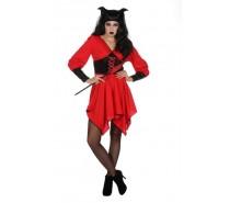 Angel Jurk kleuren zwart en rood