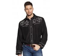 Shirt Western Zwart