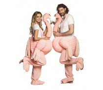 Kostuum: Op een flamingo