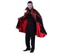 Dracula cape met led verlichting Zwart-rood
