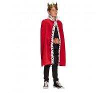 Koningsmantel kind rood (90 cm)
